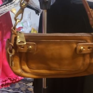 Fossil Light Brown Leather Bag